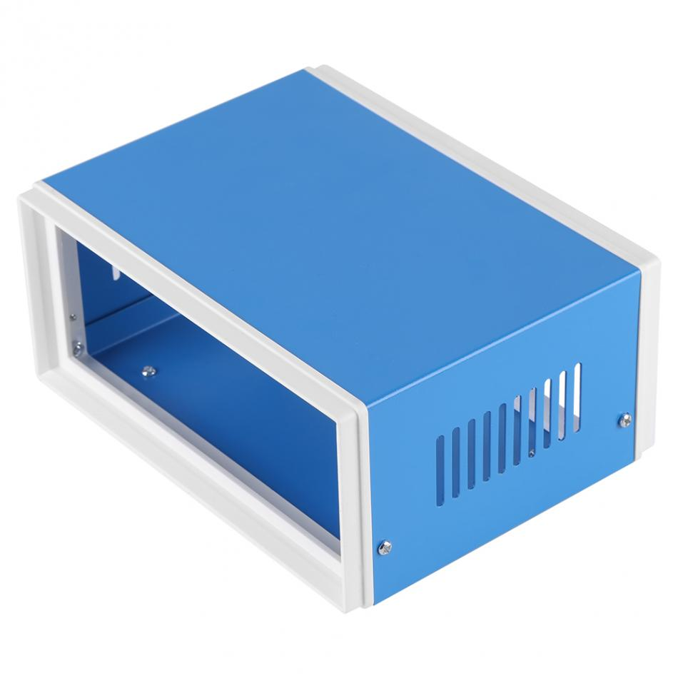 цена на 1 PC 170*130*80mm Junction Box Blue Metal Enclosure Project Case Enclosure Cabinet DIY Junction Box New Arrival