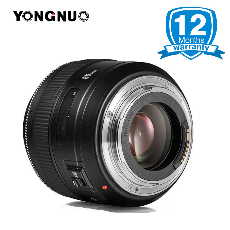 YONGNUO Official YN85mm F1.8 AF/MF Medium Telephoto Lens for Canon, Full Time Manual Focus lens for 7DII 650D 5DIII EOS camera yongnuo yn 50mm f 1 8 af lens yn50mm aperture auto focus large aperture for nikon dslr camera as af s 50mm 1 8g gift kit