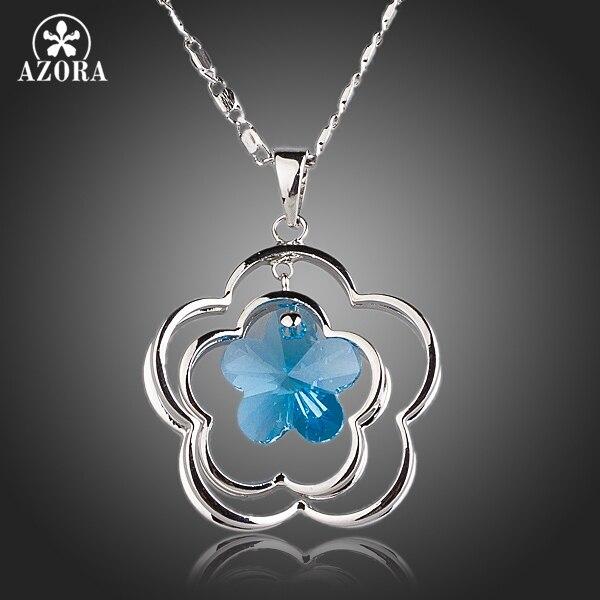 azora-5pcs-leaves-flower-with-fontblight-b-font-blue-stellux-austrian-crystal-pendant-necklace-tn014