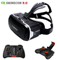 VR Shinecon 2.0 Glasses 3D Headset Virtual Reality Head Mount Cardboard Helmet vrbox For 4.7-6.0' Phone + Mocute Gamepad