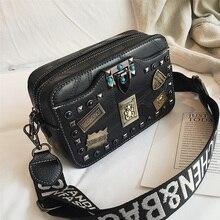 Metal badge Appliques Small Rivet Handbags (4 colors)