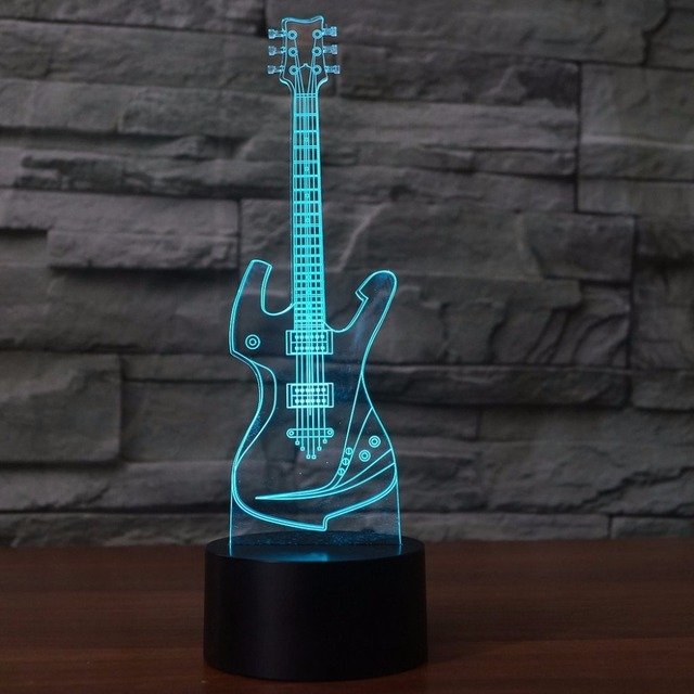 3d guitar table lamp usb visual acrylic touch musical instruments 3d guitar table lamp usb visual acrylic touch musical instruments night light led 7 color changing aloadofball Images