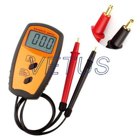 SM8124 Internal Battery Resistance Impedance Meter Tester With  0.2ohm, 2ohm, 20ohm range sm8124a battery impedance meter vehicle rechargeable lithium ion nickel hydroxide internal battery resistance tester voltmeter