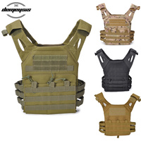 Army Tactical Vest Airsoft Paintball Molle Vest Protective Plate Carrier Waistcoat Combat Military Shooting Hunting Vest