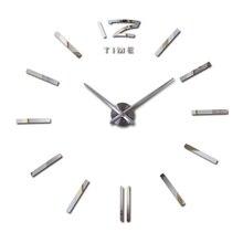 2016 hot new real 3d diy decoración del hogar Salón de Cuarzo reloj relojes reloj de pared de acrílico espejo pegatinas envío gratis