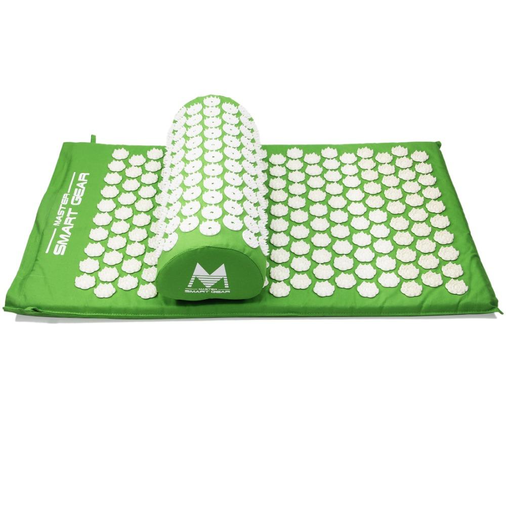 Лотос шипы ковриками и набором подушек массажный коврик для естественного рельефа стресса боль напряжение спайк