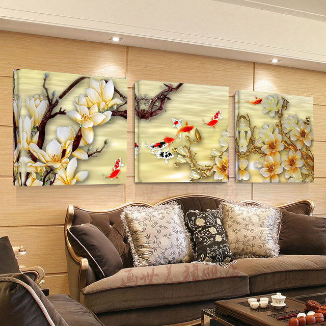 Online Shop Canvas Pictures White Magnolia Wall Art Canvas Paintings ...
