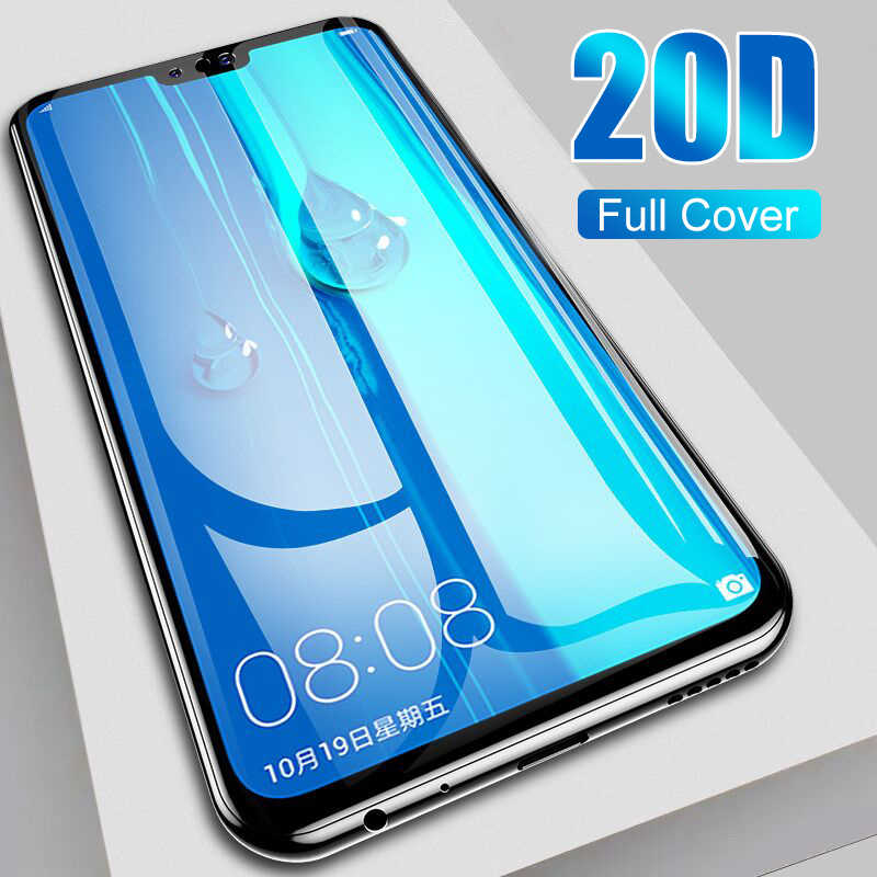 Tempered Glass Full Cover On The For Huawei Y6 Y7 Y9 2019 20D Screen Protector Film For Huawei P30 P20 Pro Lite Protective Glass
