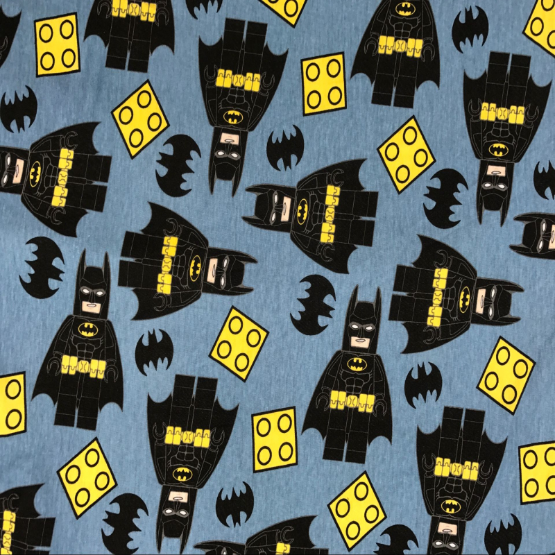 2017 Batman knitted pure cotton fabrics for patchwork cartoon japan cloth Light blue DIY Sewing baby clothes 2 way stretch