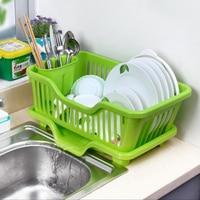 new year Bowl storage box shelf cupboard plastic drip bowl rack wankuai drain rack Holders & Racks