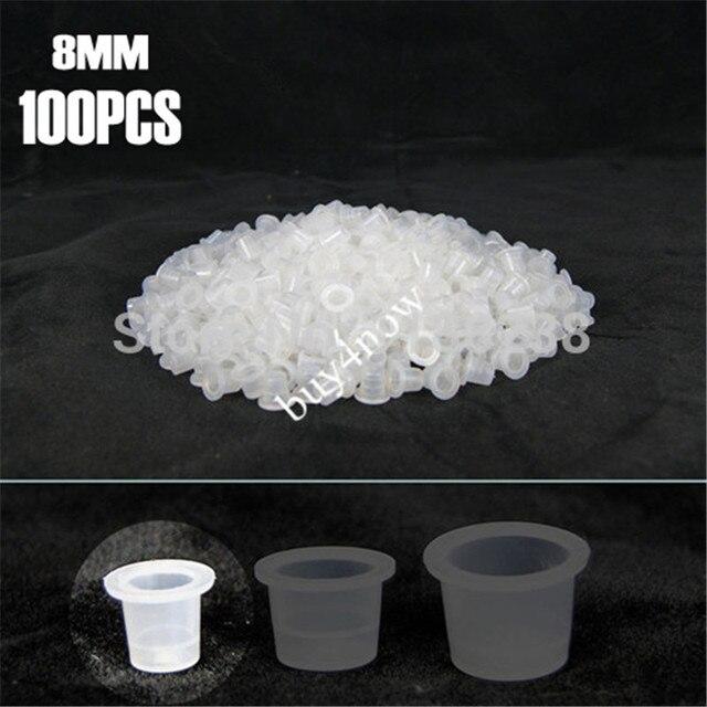 100X8MM Small Size Premium TATTOO INK Cups plastic Caps Permanent ...