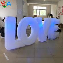 цена Nice 3*1.2m Romantic Giant Inflatable LOVE  Letter With LED Lights for Wedding Party Event Stage Valentine's Day  Decoration в интернет-магазинах