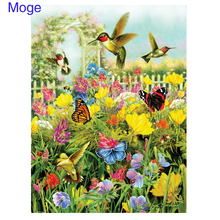 5D DIY diamond painting flowers butterfly birds Diamond embroidery bird mosaic cross stitch decor