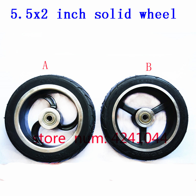 High-quality Solid Wheels 5 Inch 5.5x2 145x40 6x2 Fast Wheel F0,jackhot,Nes Carbon Fiber Scooter Solid Tire With Alloy Rim