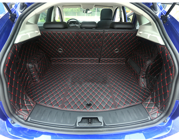 luxury fiber leather car trunk mat for jaguar e-pace 2017 2018 2019 2020 cargo mat car accessories