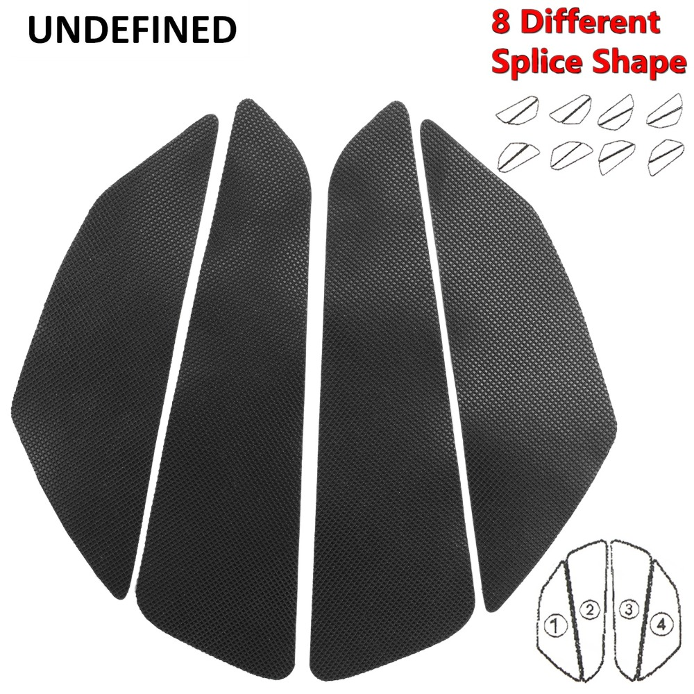 Universal Motorcycle Tank Traction Side Pad Gas Knee Grip Protector Sticker 3m Rubber Decals For Honda Cb Cbr Yamaha Suzuki Moto Factory Direct Selling Price Automobiles & Motorcycles Motorcycle Accessories & Parts
