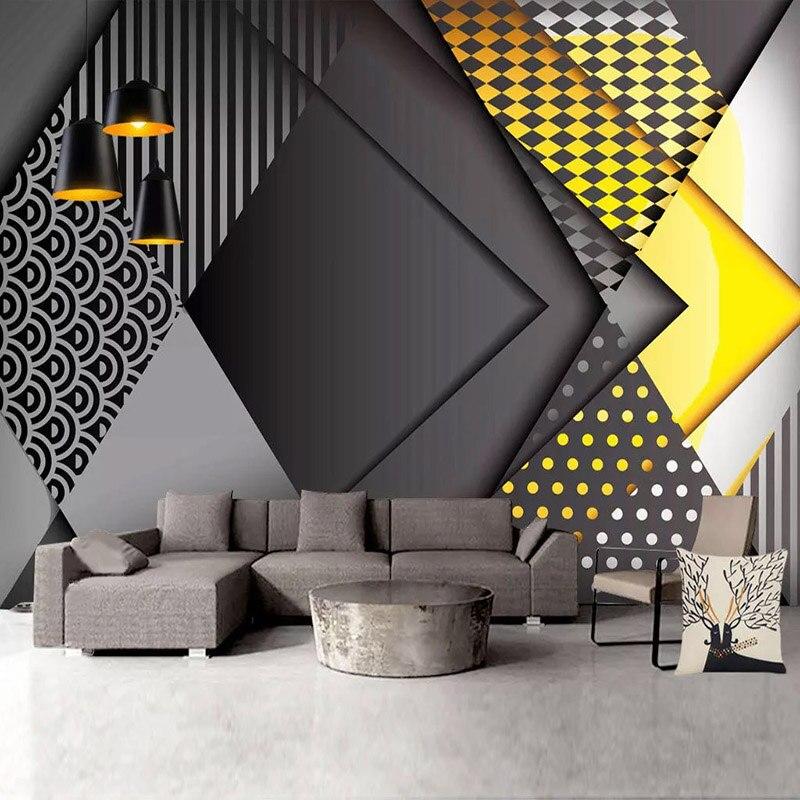 Photo Wallpaper Modern 3D Polygon Geometric Murals Living Room Bedroom Creative Wall Papers Self-Adhesive Waterproof 3D Stickers