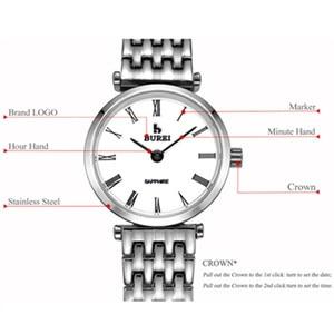 Image 5 - Relogio Feminino BUREI Brand Women Fashion Watches Ladies Luxury Waterproof Crystal Sapphire Quartz Wristwatch Reloj Mujer 2020
