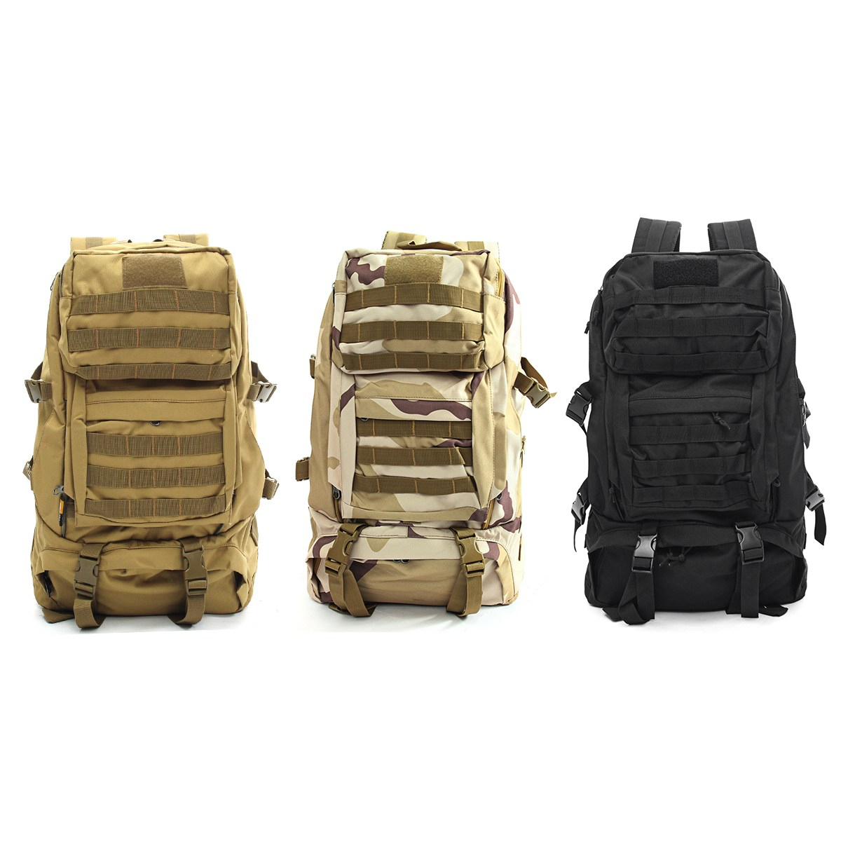 50L Canvas Outdoor Backpack Waterproof Hiking Camping Travel Military Rucksack Unisex backpack Durable Tactical shoulder Bags outdoor nylon waterproof men sports hiking climbing double shoulder bags 35l military tactical durable travel backpack rucksack