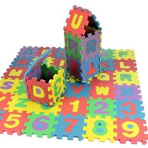 Image 1 - 36 pz/set Del Bambino di Gioco del Gioco Zerbino s Alfabeto Numeri Per Bambini Kids Play Zerbino Bambini Pavimento Morbido Strisciare Tappeti Mini EVA schiuma Zerbino