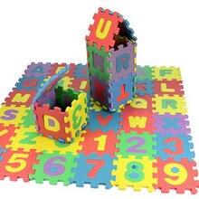 Tapetes de juego para bebés, 36 unidades/juego, números del alfabeto, alfombra de juego para bebés, tapetes de gateo de suelo suave para niños, Mini alfombra de espuma EVA