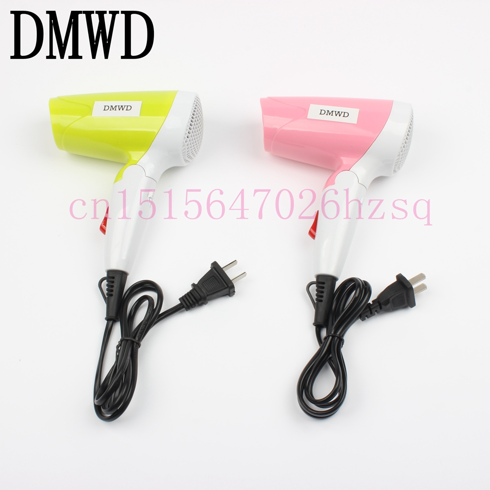 DMWD Mini Folding Soft and strong Wind Hair Blow Dryer Styling Tools For Home&Dormitory Colorful Foldable Drying Hair Porable duni салфетки бумажные dark 20 шт