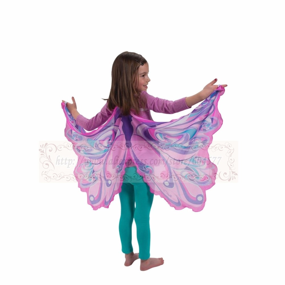Costumes Dress-Up-Clothes Rosa-Wing Fairy Christmas-Gifts Halloween Kids Play Girls