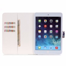 Ptint  Sensible Case Cowl  for Apple iPAD air 2 with card holder pockets holder Stand Holder  free delivery