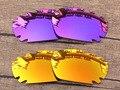 Plasma Púrpura y Rojo 2 Pares de Espejo Polarizado Lentes De Repuesto Para Quijada Ventilación Marco de Gafas de sol 100% protección UVA y Uvb