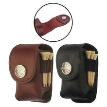 Портативный держатель для мяча для гольфа, поясная сумка, кожаная крутая сумка для гольфа, спортивный аксессуар, маленькая сумка для мяча для гольфа