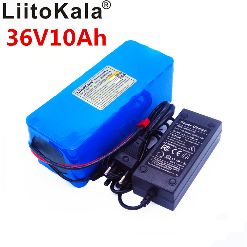 LiitoKala New <font><b>36v</b></font> 42 <font><b>lithium</b></font> <font><b>battery</b></font> <font><b>10ah</b></font> <font><b>lithium</b></font> ion <font><b>battery</b></font> 18650V 10000 mAh 10s4p bms large capacity electric bicycle <font><b>charger</b></font> image