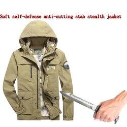 2019 Stab-Beständig Anti-Cut Weiche Stealth Jacke Selbstverteidigung Anti Stab Polizei Fbi Swat Military Tactics anti-Hacker Kleidung 3XL