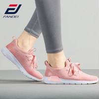 FANDEI 2018 Women Running Shoes Sneakers for Woman Breathable Mesh Comfortable Sport Shoes Lightweight Walking Sneaker Lace Up