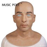 Музыка поэт Хэллоуин Искусственный Реалистичная силиконовая маска замаскированный мужской латекс взрослых полный уход за кожей лица косп