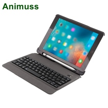 Animuss Detachable Quiet Wireless Bluetooth Keyboard Cover With Stylus Holder For iPad 9.7 Case
