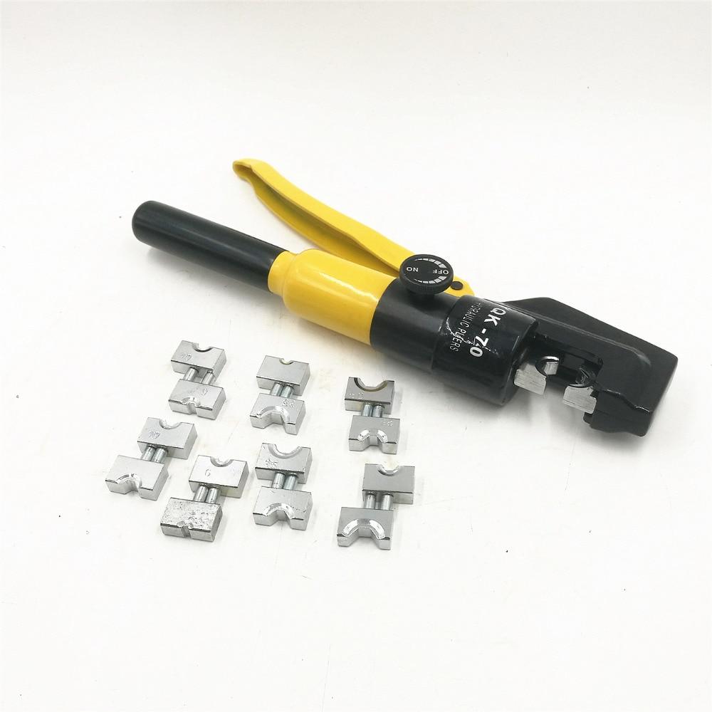Outil À Sertir hydraulique Pince À Sertir Hydraulique Hydraulique Outil De Compression YQK-70 Gamme 4-70MM2 Pression 5-6 t