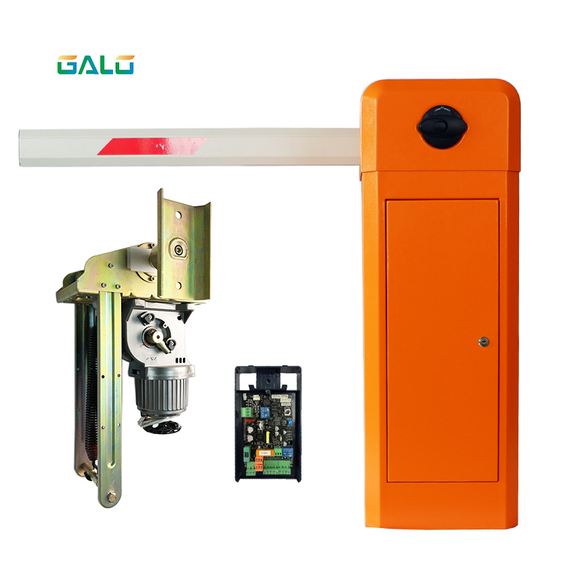 Heavy-duty cast iron chassis automatic barrier gate system with high quality movement and intelligent control panelHeavy-duty cast iron chassis automatic barrier gate system with high quality movement and intelligent control panel