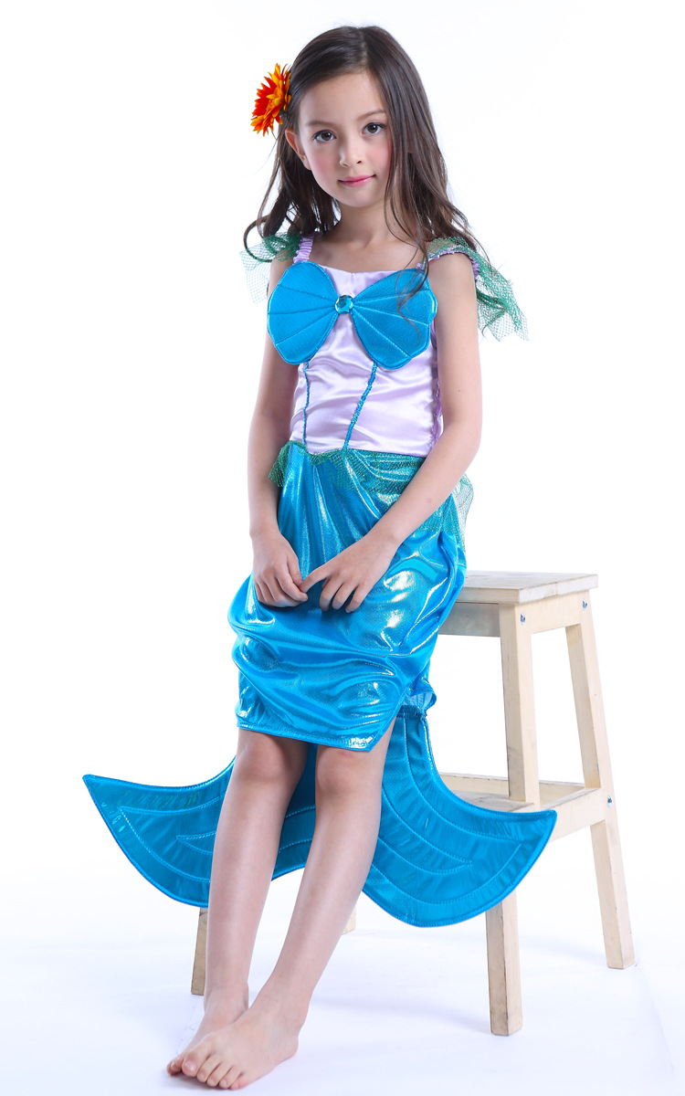 aliexpresscom buy fashion 2016 high quality halloween costume ideas online little mermaid dress for kids from reliable mermaid dresses for kids suppliers - Mermaid Halloween Costume For Kids