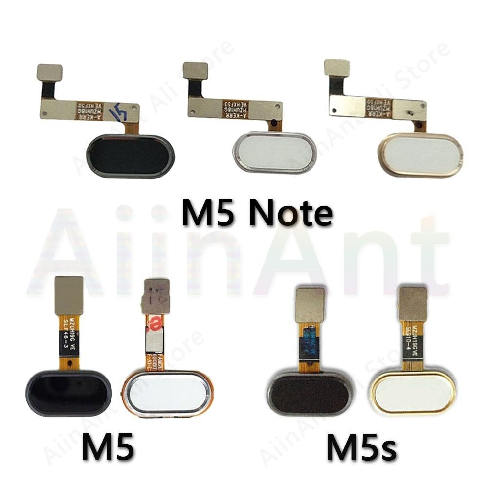 Home Key Fingerprint Return Button Touch ID Sensor Flex Cable For Meizu M5 Note M5s Original Home Fingerprint Flex