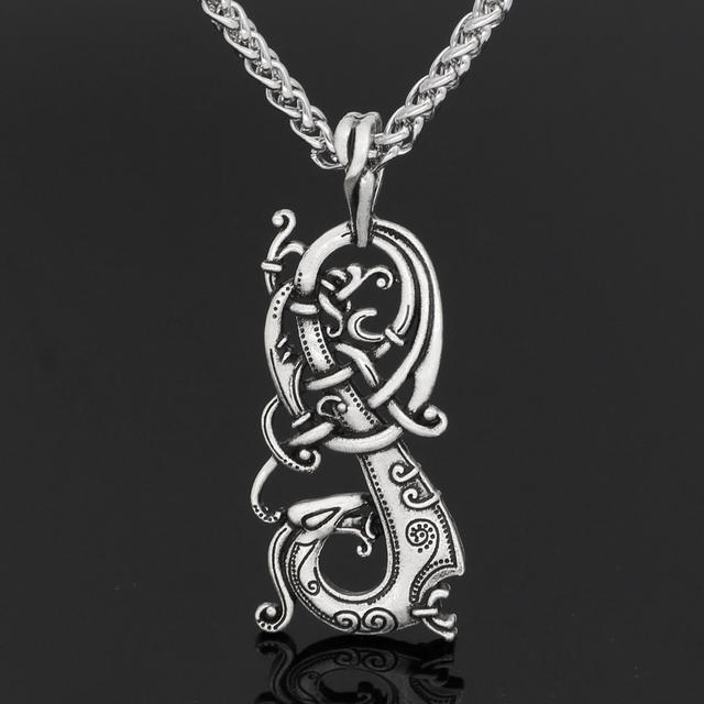 STAINLESS STEEL VIKING NORSE KNOT PAGAN NECKLACE