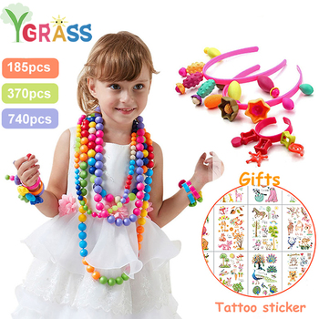 Pop Beads Toys Creativel Arts And Crafts For Kids Bracelet Snap Together Fashion Kit Educational Toy For Children