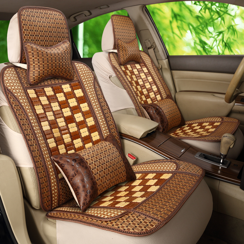 Car seat cushion summer bamboo natural bamboo bamboo filament car mat mat cushion cushion car single monolithic with back of a c
