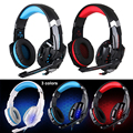 Kotion each g9000 3.5mm & usb 7.1 surround sound gaming headphone jogo fone de Ouvido Estéreo com Microfone LED Light para PS4 PC Tablet telefone