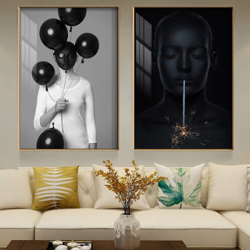 Modern Creative Decor Lady Picture Home Decor Nordic Canvas Painting Wall Art Figure Prints and Posters Decor Pating for Bedroom image