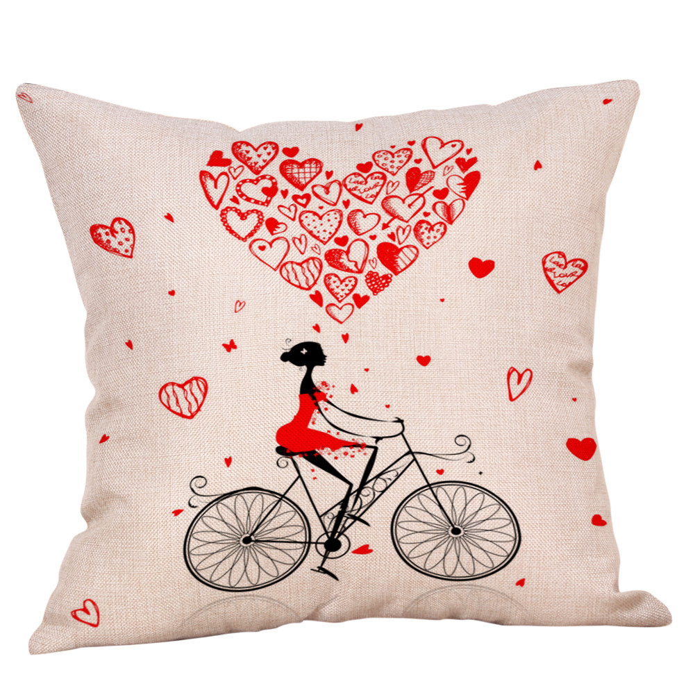 8 styles cushion cover Decorative Pillowcases Happy Valentine Sweet Love Square home decoration maison Throw PillowCase F301231