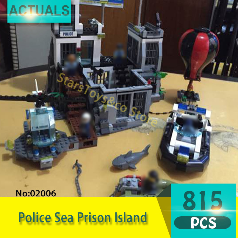 Lepin 02006 815Pcs City series Police Sea Prison Island Model Building Blocks Set  Bricks Toys For Children Gift 60130 original box bevle store lepin 02006 815pcs city series sea island prison building bricks blocks children toys gift 60130