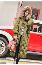 S-XL Women Winter Winter Thick Jackect 90% White Duck Down Female Long Warm Down Parkas Warm Jacket Parkas Down Slim Coat J-1