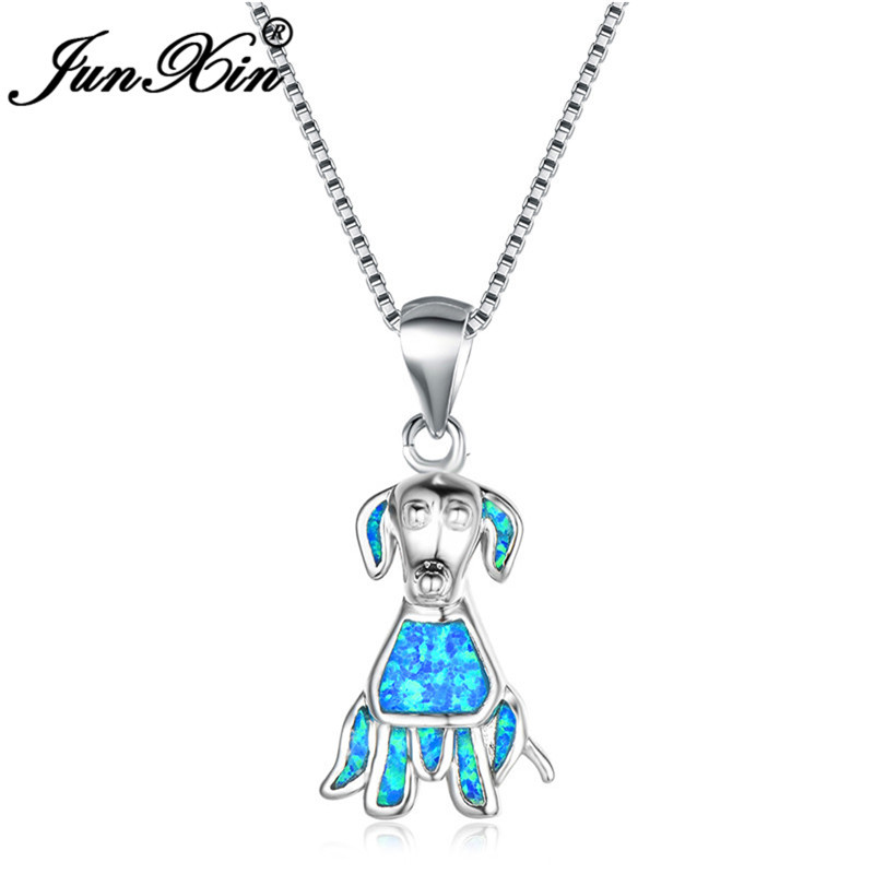 Aliexpress.com : Buy JUNXIN Cute Pet Dog Pendant Blue Fire