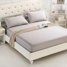Простыня по размеру матраса крышка сплошной цвет шлифованные постельные принадлежности Постельное белье простыни с резинкой двойной queen размеры простыня 180X200 см
