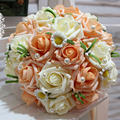 Simulated roses bouquet bride holding bouquet wedding wedding flowers bridal bouquets